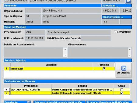 Notificación de Lexnet