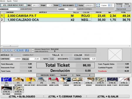 TPV - Venta directa a Clientes (Tickets)